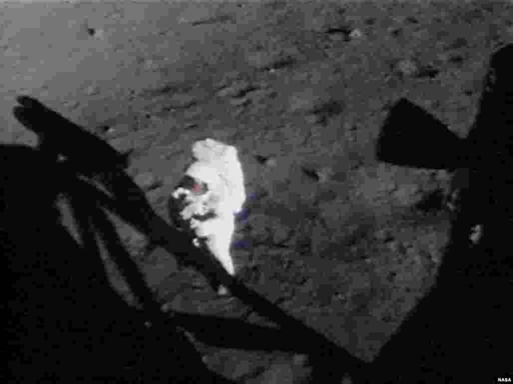 «Один маленький шаг для человека, но гигантский скачок для всего человечества».  В истории освоения космоса эта легендарная цитата Армстронга известна не меньше, чем знаменитое «Хьюстон, у нас проблемы» и фраза Юрия Гагарина «Поехали!». Несмотря на то, что Армстронгу принадлежит статус первого человека, ступившего на другое небесное тело, первая фраза, сказанная на поверхности Луны, все же принадлежит Баззу Олдрину. Вскоре после посадки Олдрин произнес фразу, которая, хоть и не является такой торжественной, как цитата Армстронга, но все же заняла свое место в исторических хрониках: «Лампа контакта зажглась… Ок, двигатель выключен».