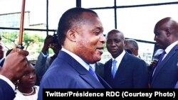 Le président Denis Sassou Nguesso, à Brazzaville, 9 décembre 2017. (Twitter/Présidence RDC)