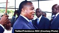 Le président Denis Sassou Nguesso à Brazzaville, 9 décembre 2017. (Twitter/Présidence RDC)