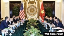 Đối thoại Hoa Kỳ - Việt Nam về Chính trị - An ninh - Quốc phòng lần thứ 9, ngày 30/1/2018 tại Hà Nội. (Ảnh: NLD)