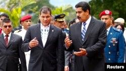 Los presidentes de Ecuador y Venezuela se juntan para el ALBA.