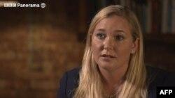 Gambar dari cuplikan wawancara British Broadcasting Corporation (BBC) dengan Virginia Giuffre, 2 Desember 2019. (Foto: HO/BBC/AFP)