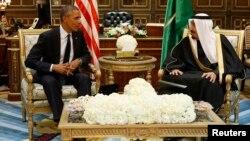 Arxiv surat. AQSh Prezidenti Barak Obama va Saudiya Arabistoni qiroli Solmon