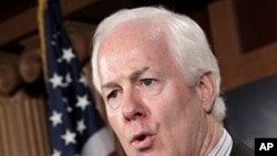 Sen. John Cornyn, R-Texas during a news conference on Capitol Hill in Washington (File Photo - June 29, 2011)
