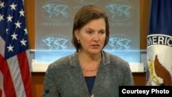 美國務院發言人盧嵐 (國務院視頻截圖)