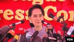 ທ່ານນາງ Aung San Suu kyi ໄດ້ຮຽກຮ້ອງໃຫ້ທຸກໆຄົນເຂົ້າ ຮ່ວມການເລືອກຕັ້ງທົ່ວໄປ.
