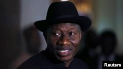 Presiden Nigeria Goodluck Jonathan di Abuja (Foto: dok).
