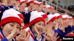 Şimali Koreyanın dəstək qrupu Pxençxanda Qış Olimpiya Oyunlarında