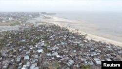 نواحی آسیب دیده در موزامبیک