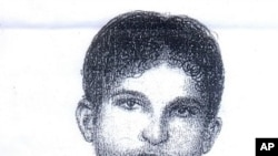 Sketch released by Punjab police in Lahore, Pakistan on August 18, 2011 shows a suspect allegedly involved in the abduction of American development expert Warren Weinstein.