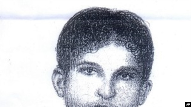 This sketch, released by Punjab police in Lahore, Pakistan on Thursday, Aug 18, 2011, shows a suspect allegedly involved in the abduction of American development expert Warren Weinstein.