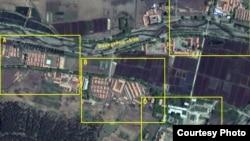 지난 5월 촬영한 북한의 정치범 수용소, 22호 회령 관리소의 위성 사진. 디지털글로브 제공.