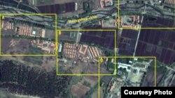 2011년 5월 21일 촬영한 북한 정치범 수용소, 22호 회령 관리소의 위성 사진. 디지털글로브 제공.