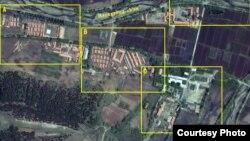 지난 2011년 5월 촬영한 북한 정치범 수용소 22호 회령 관리소의 위성 사진. 디지털글로브 제공.