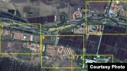 지난 5월 21일 촬영한 북한의 정치범 수용소, 22호 회령 관리소의 위성 사진. 디지털글로브 제공.