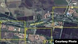 2011년 5월 21일 촬영한 북한의 정치범 수용소, 22호 회령 관리소의 위성 사진. 디지털글로브 제공.