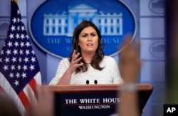 Juru Bicara Gedung Putih, Sarah Huckabee Sanders (Foto: dok).