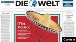 """¡Viva México!"""", se lee en la publicación."""