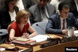 BM Güvenlik Konseyi'nin dönüşümlü başkanı ABD'nin BM Daimi Temsilcisi Samantha Power