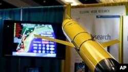 Muestra de un planeador submarino exhibido en 2014 en una Conferencia Nacional sobre Huracanes.
