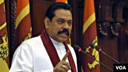 Presiden Srilanka Mahindra Rajapaksa