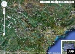 Bản đồ trực tuyến Google Maps vẽ sai đường biên giới trên đất liền giữa Việt Nam và Trung Quốc