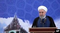 ایران کے صدر حسن روحانی۔