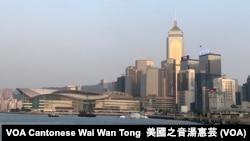 香港島景色(美國之音湯惠芸拍攝)