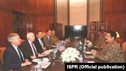 امريکايي پلاوي د پاکستان د پوځ سرلښکر جنرال راحيل شريف سره هم ليدلي دي .
