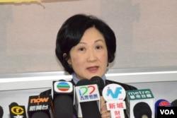 香港新民黨主席、立法會議員葉劉淑儀。(美國之音湯惠芸)