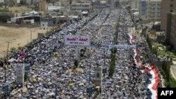 Антиправительственная демонстрация в столице Йемена - Сане.