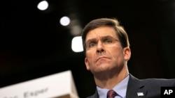 Menteri Pertahanan AS Mark Esper di Capitol Hill, Washington, 4 Maret 2020. (Foto: AP)