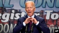 El exvicepresidente de EE.UU.,Joe Biden, habla ante la Coalición Rainbow PUSH en Chicago el viernes, 28 de junio de 2019.