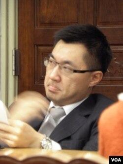 國民黨立委江啟臣(美國之音申華拍攝)