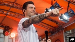 "FILE - Adam Levine from the band Maroon 5 performs on NBC's ""Today"" show."