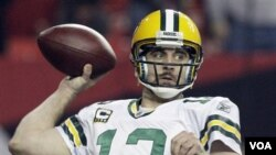 Quarterback Green Bay Packers, Aaron Rodgers.