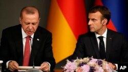 د تریکې او فرانسې جمهور رئیس د استانبول د اکتوبر د میاشتې د غونډې پر مهال