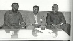 Jonas Savimbi, Agostinho Neto e Holden Roberto