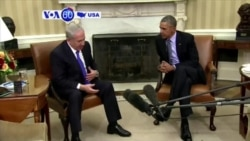 VOA60 America - Obama, Netanyahu Meet on Israeli Security, Middle East Unrest