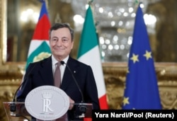 ITALY-POLITICS/ Italian Prime Minister Mario Draghi