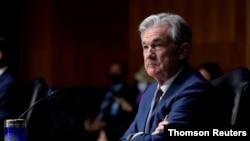 El presidente de la Reserva Federal de EE.UU., Jerome Powell, augura mejores tiempos económicos para el país.