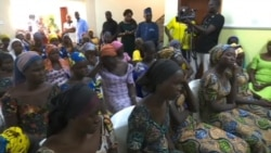 Released Chibok Girls at Medical Center