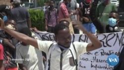 Manifestantes angolanos protestam contra a corrupção e a violência policial