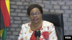 Monica Mutsvangwa, Zimbabwe's Information Minister, says the government knows its workers are struggling. (Columbus S. Mavhunga/VOA)