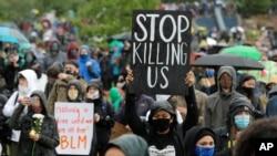 Marš protiv policijske brutalnosti u Sijetlu u državi Vašington, 12. juna 2020.