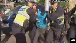 澳大利亞示威人士被警方逮捕