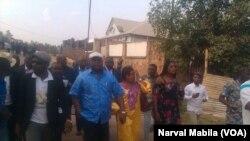 Félix Tshisekedi au micro de Narval Mabila