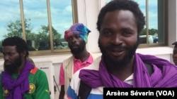 Des ex- rebelles Ninjas réclament leur réinsertion socio-économique, 20 juin 2019 à Kinkala, Congo-Brazzaville. (VOA/Arsène Séverin)