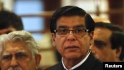 巴基斯坦总理阿什拉夫在2012年10月12日的照片