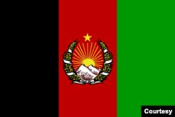 برطانیہ سے آزادی کے بعد افغانستان کا پہلا تین رنگوں والا جھنڈا جسے 1928 میں متعارف کرایا گیا۔